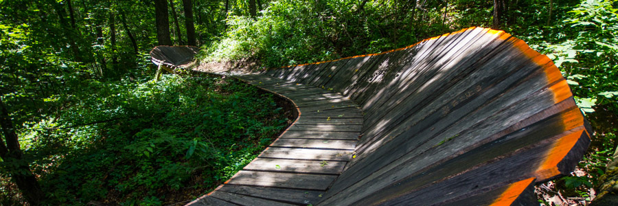 Berm bridge on the Jubilee trail.
