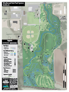 Westbrook Park trail map.